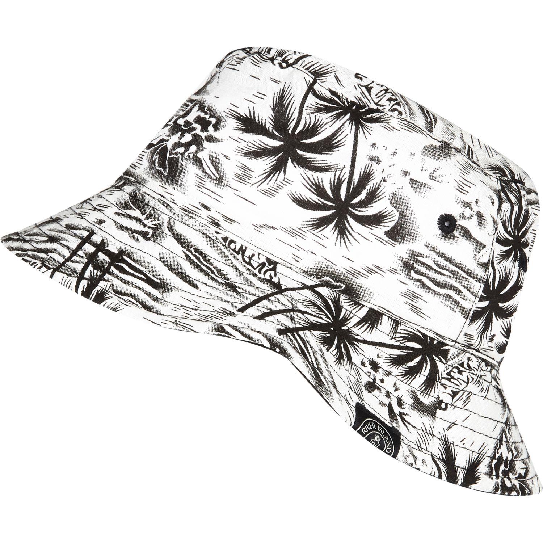 0c32566a8 River Island Black Boys White Hawaiian Print Bucket Hat