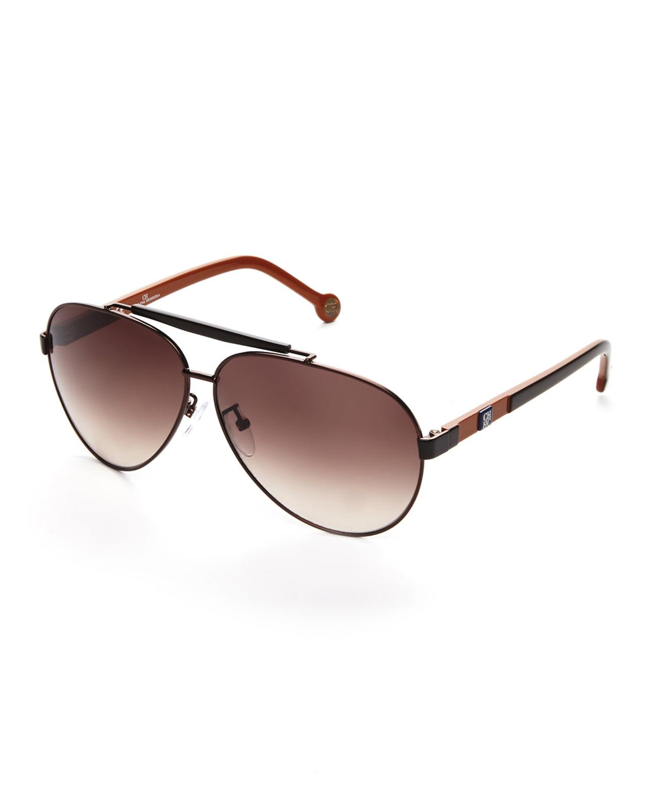 989508c292 Lyst - Carolina Herrera Brown   Orange She031 Aviator Sunglasses in ...