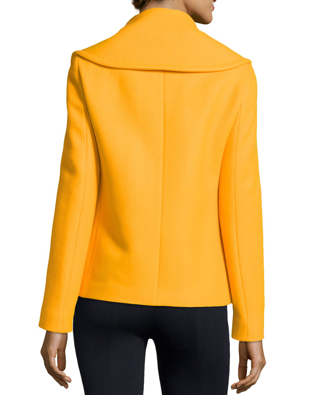 Womens yellow pea coat