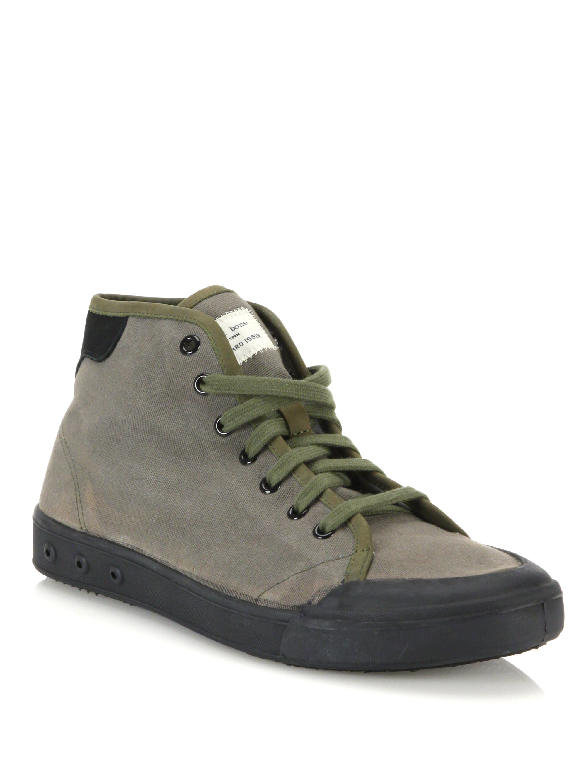 rag bone standard issue canvas high top sneakers in gray