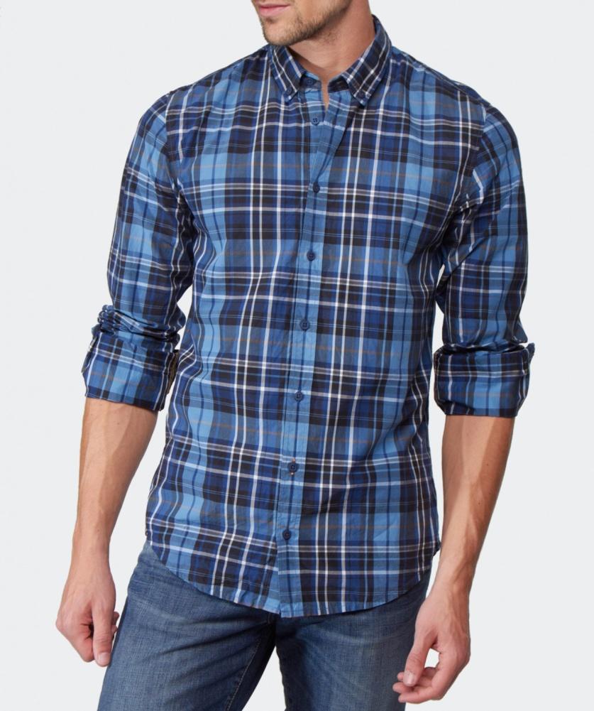 Boss Orange Edipoe Large Check Shirt In Multicolor For Men