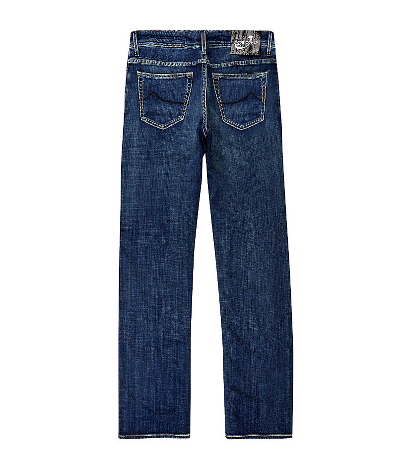 Jacob Cohen Crocodile Patch Tailored Jeans in Silver (Blue) for Men