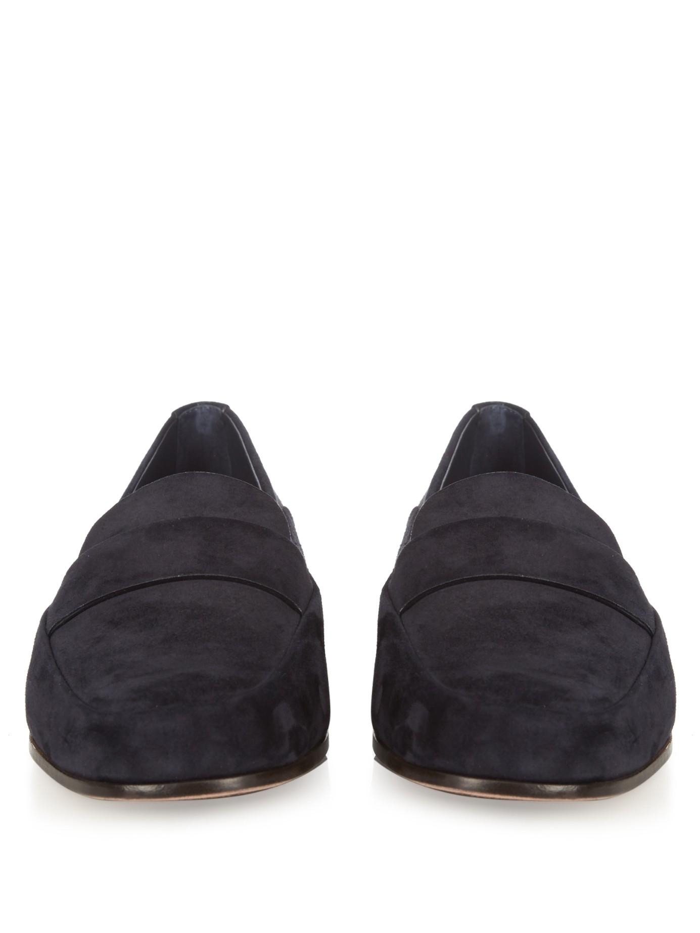 9e50b4c0 Ermenegildo Zegna Blue Suede Loafers for men