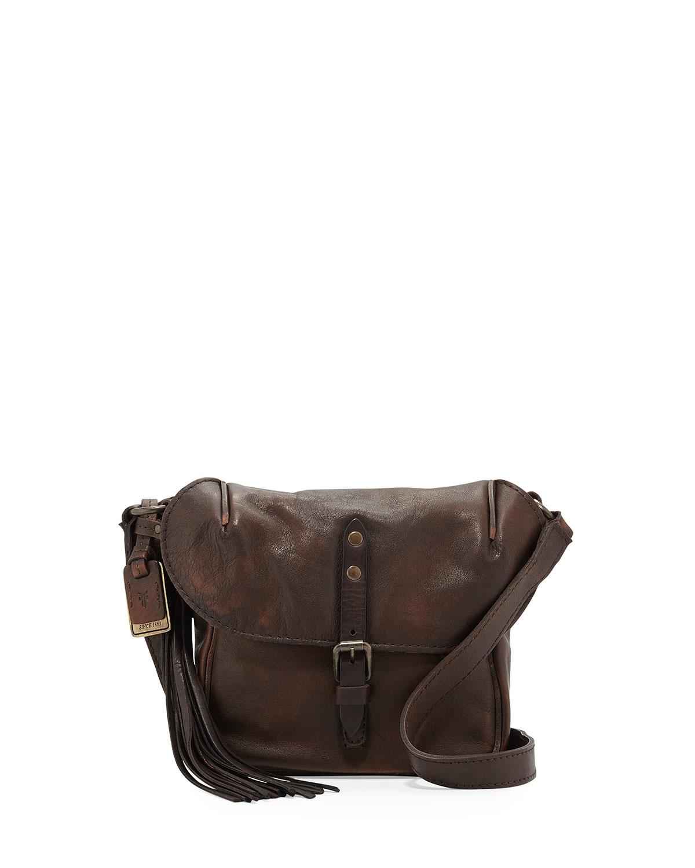 Frye Veronica Leather Crossbody Bag In Brown Lyst