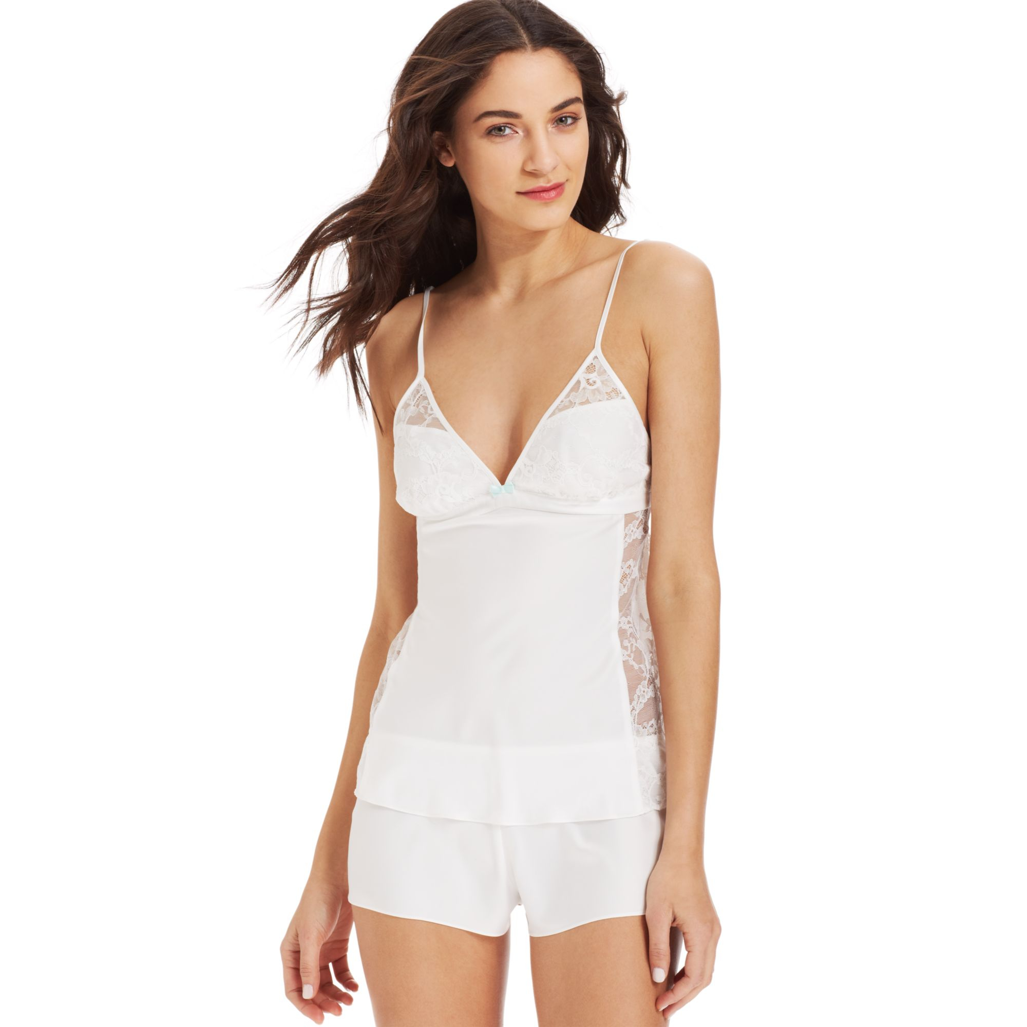 Betsey johnson sultry satin fly camisole and tap shorts for Robes de mariage de betsey johnson