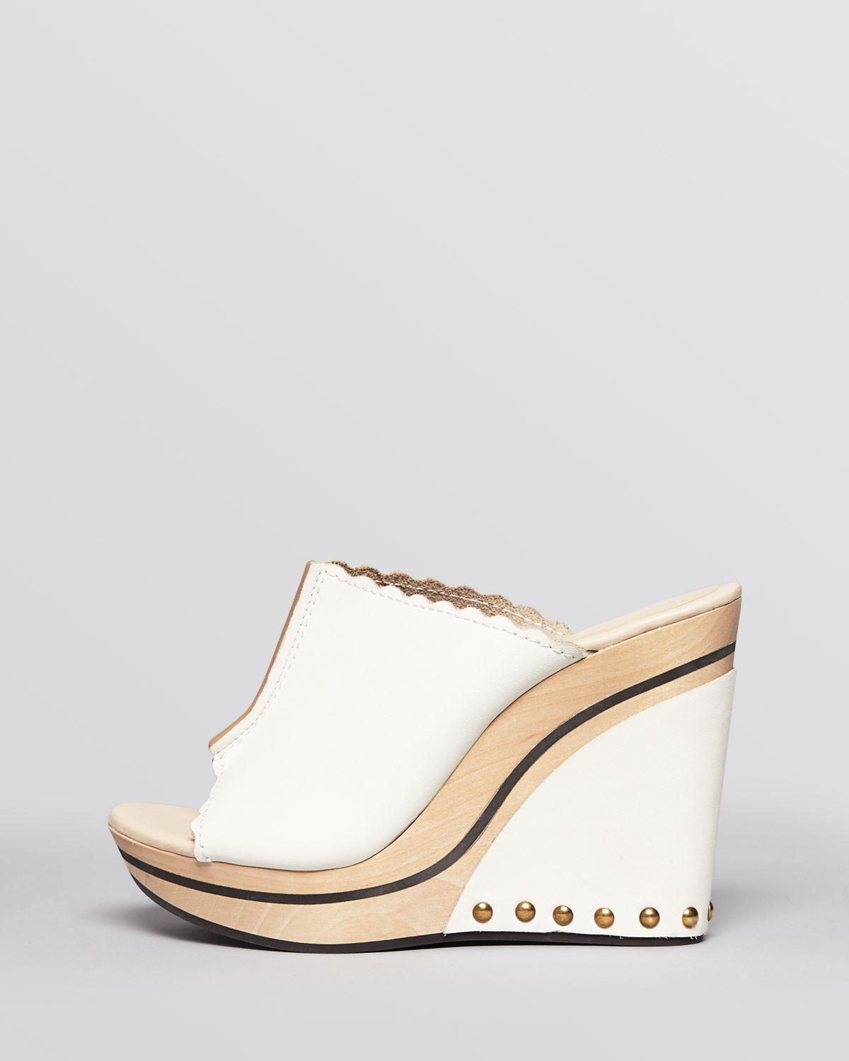 See by Chloé Peep-Toe Slingback Wedges with paypal outlet hot sale lIuTsDj