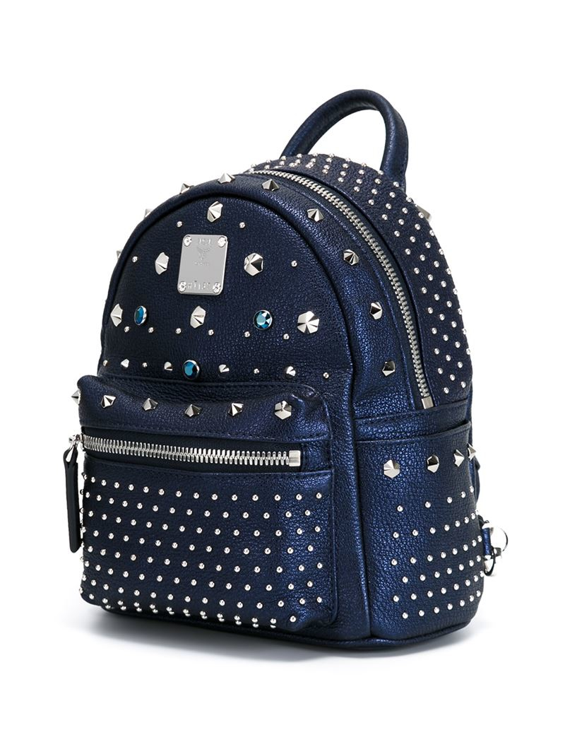 lyst mcm x mini 39 bebe boo 39 backpack in blue. Black Bedroom Furniture Sets. Home Design Ideas