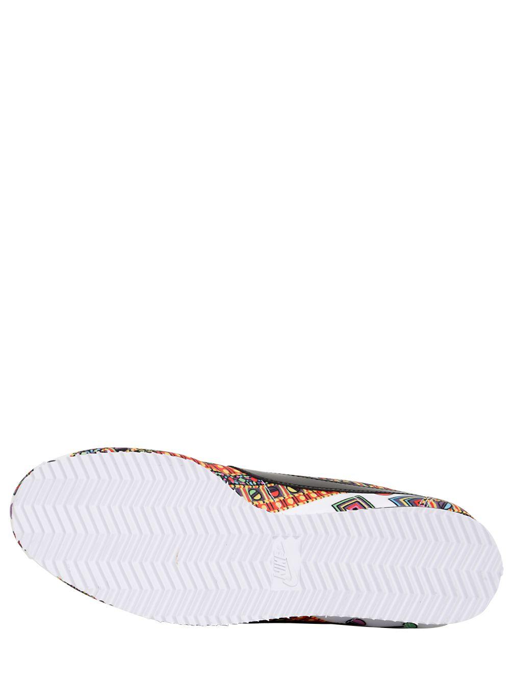 Nike Silk Liberty Classic Cortez Sneakers in White/Black/Red (White)