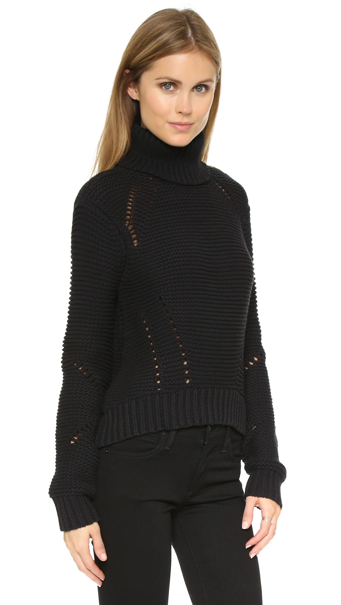 Joe's Jeans Denim Akasha Turtleneck Sweater in Black
