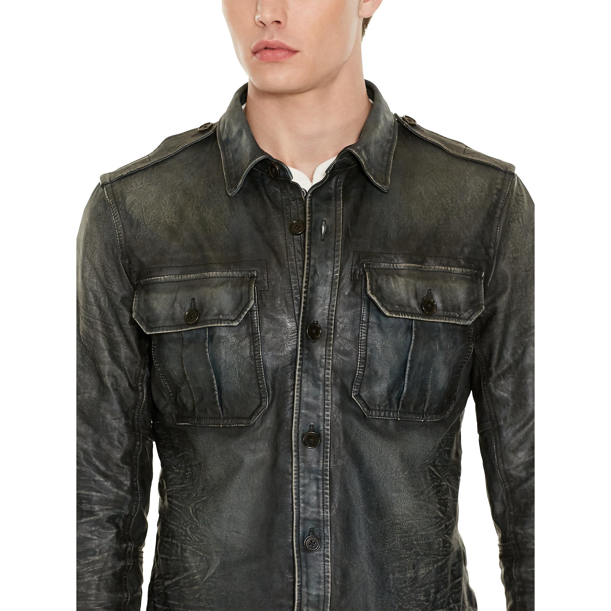 Men Ralph Multicolor Lauren Leather Jacket Polo Shirt For CordxeBW