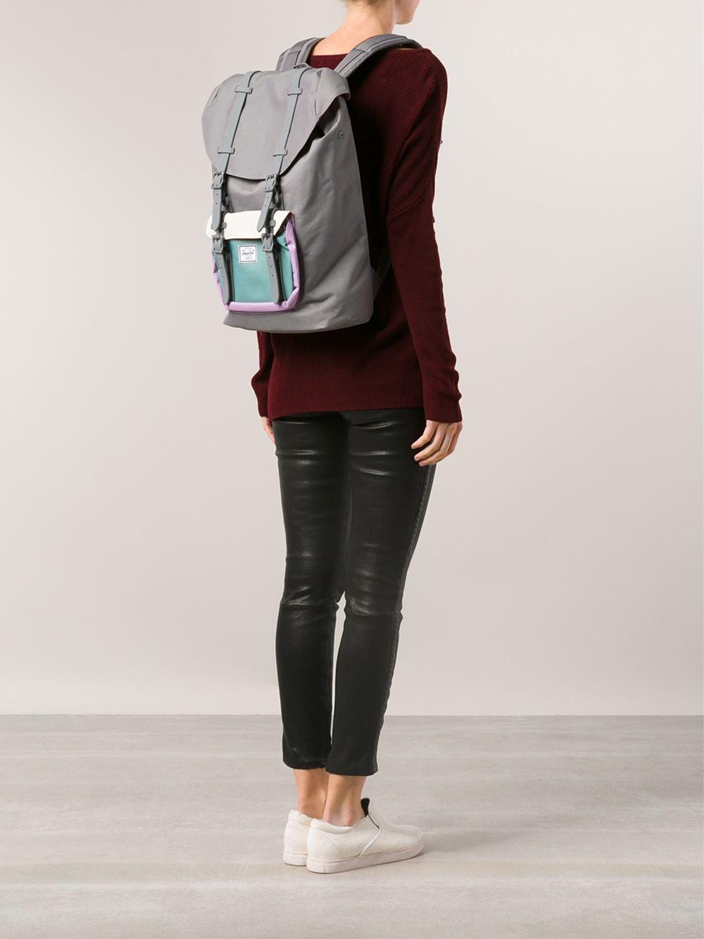 Lyst - Herschel Supply Co. Little America Midvolume Backpack in Gray ... 3924012fe6a