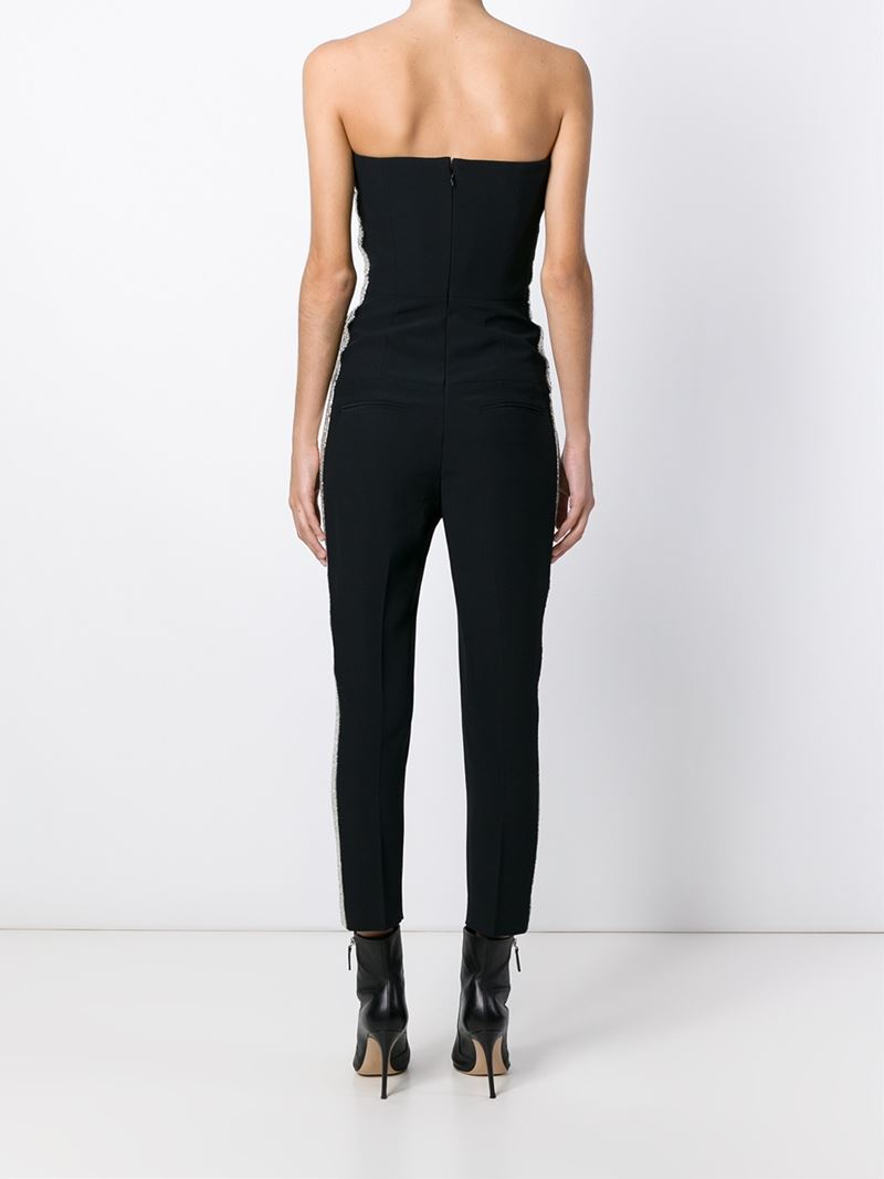 bd026fa22bbf Lyst - Alexander McQueen Strapless Jumpsuit in Black
