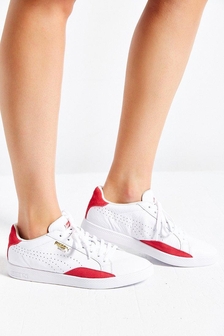 da6fb4a2898 Lyst - PUMA Match Leather Low-top Basic Sport Sneaker in Red