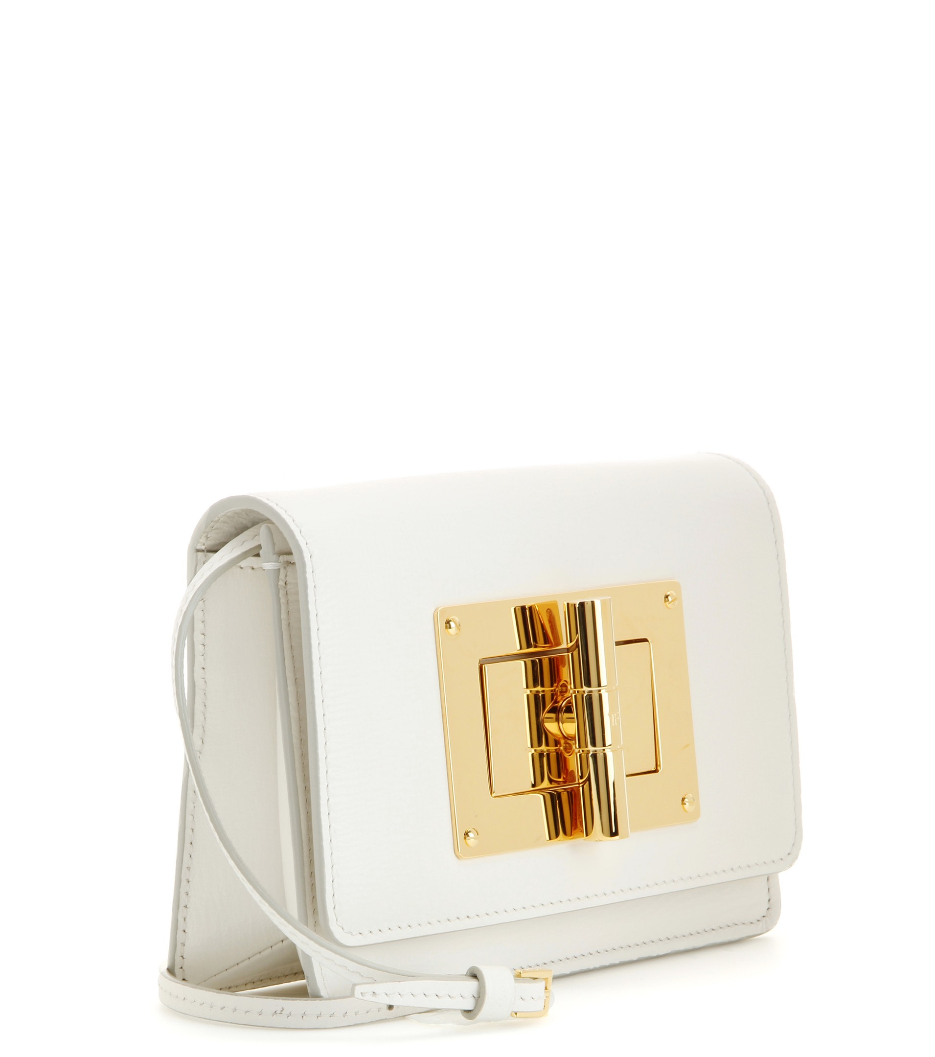5d8eca471a53b Tom Ford Natalia Small Leather Shoulder Bag in White - Lyst