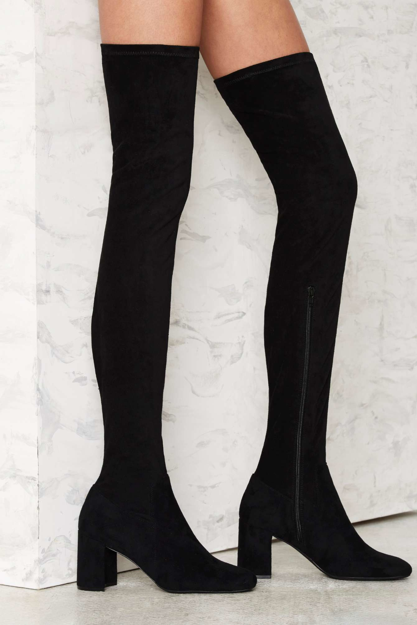 Lyst Jeffrey Campbell Cienega Over The Knee Suede Boot