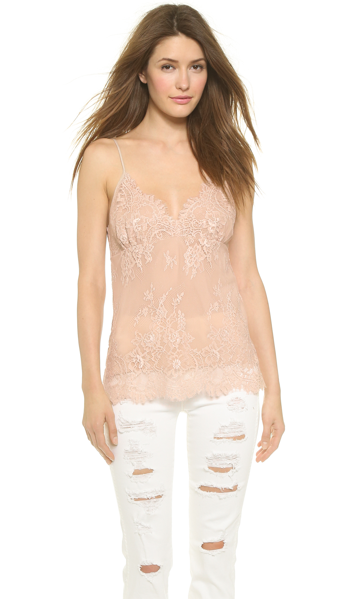 Falcon  Bloom Liz Lace Camisole - Nude In Natural - Lyst-1358