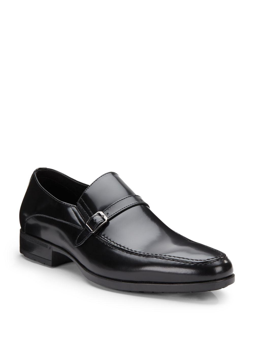 Lyst Saks Fifth Avenue Tobin Buckle Strap Leather