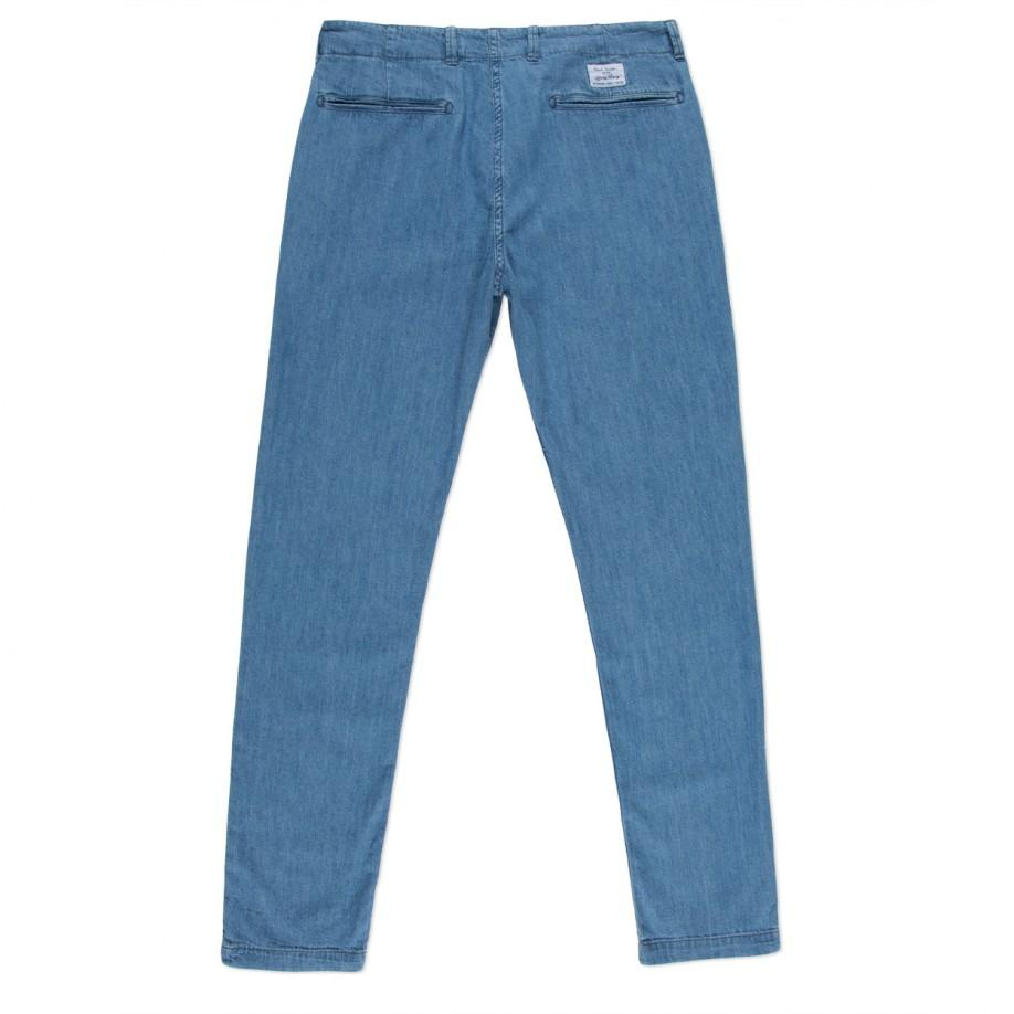 Paul Smith Light-Wash Chambray Pleated Chinos in Blue for Men