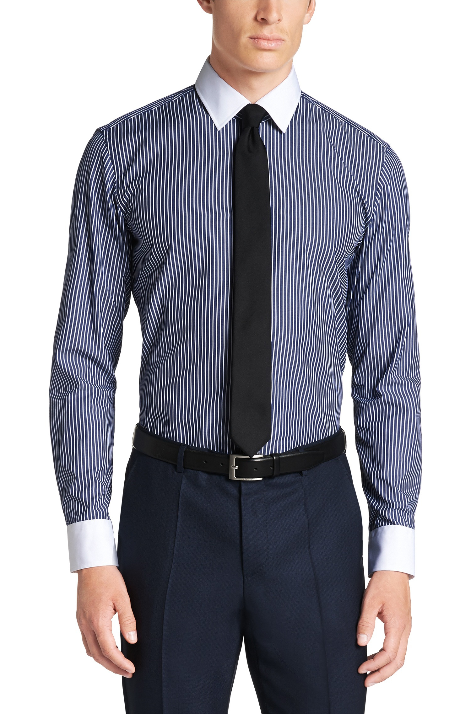 Easy Iron 25 Mg: Slim Fit, Easy Iron Cotton Striped