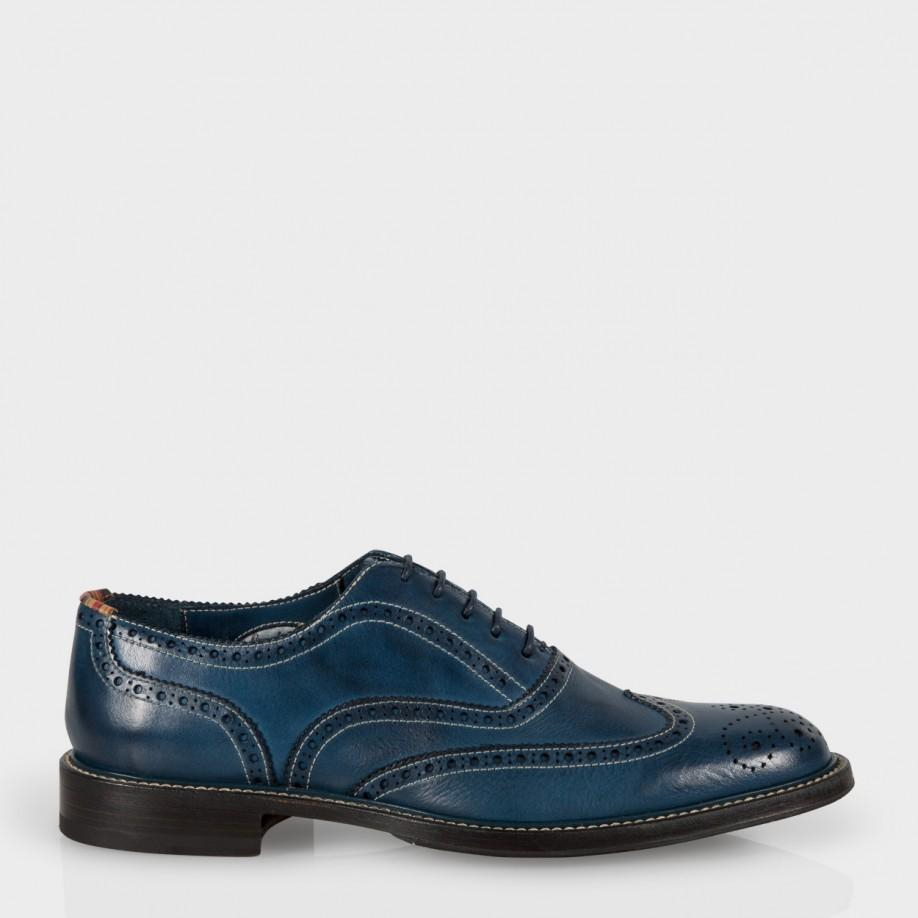 Paul smith Men's Navy Leather 'knight' Brogues in Blue for Men | Lyst