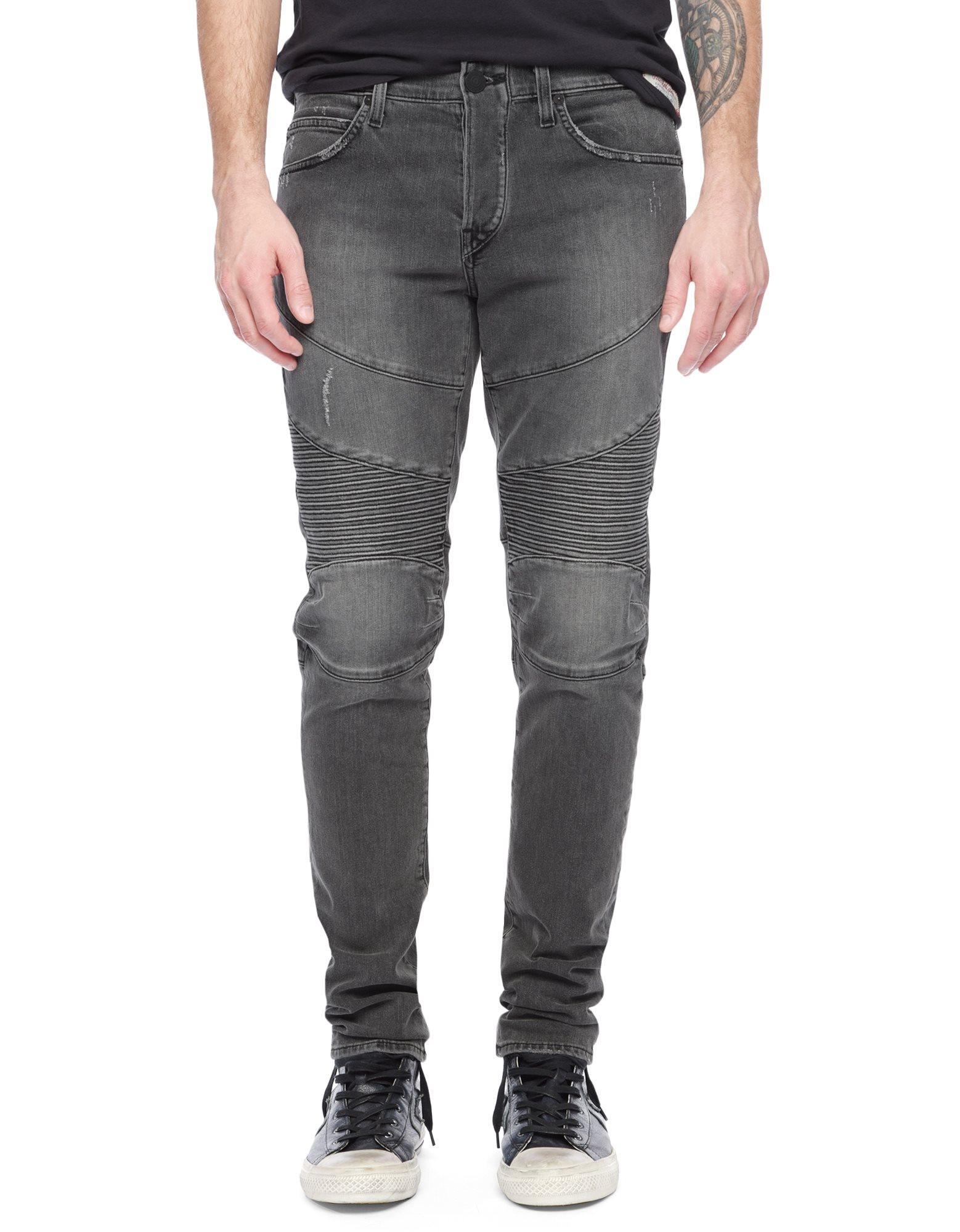 True Religion Geno Relaxed Fit Slim Jeans For Men In Gray For Men Lyst