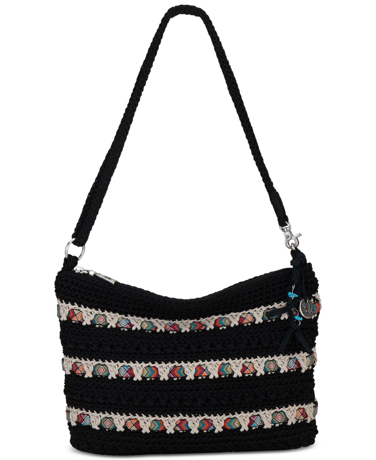 Sak Crochet Bag : The sak Classic Mini 3-in-1 Crochet Clutch in Black Lyst