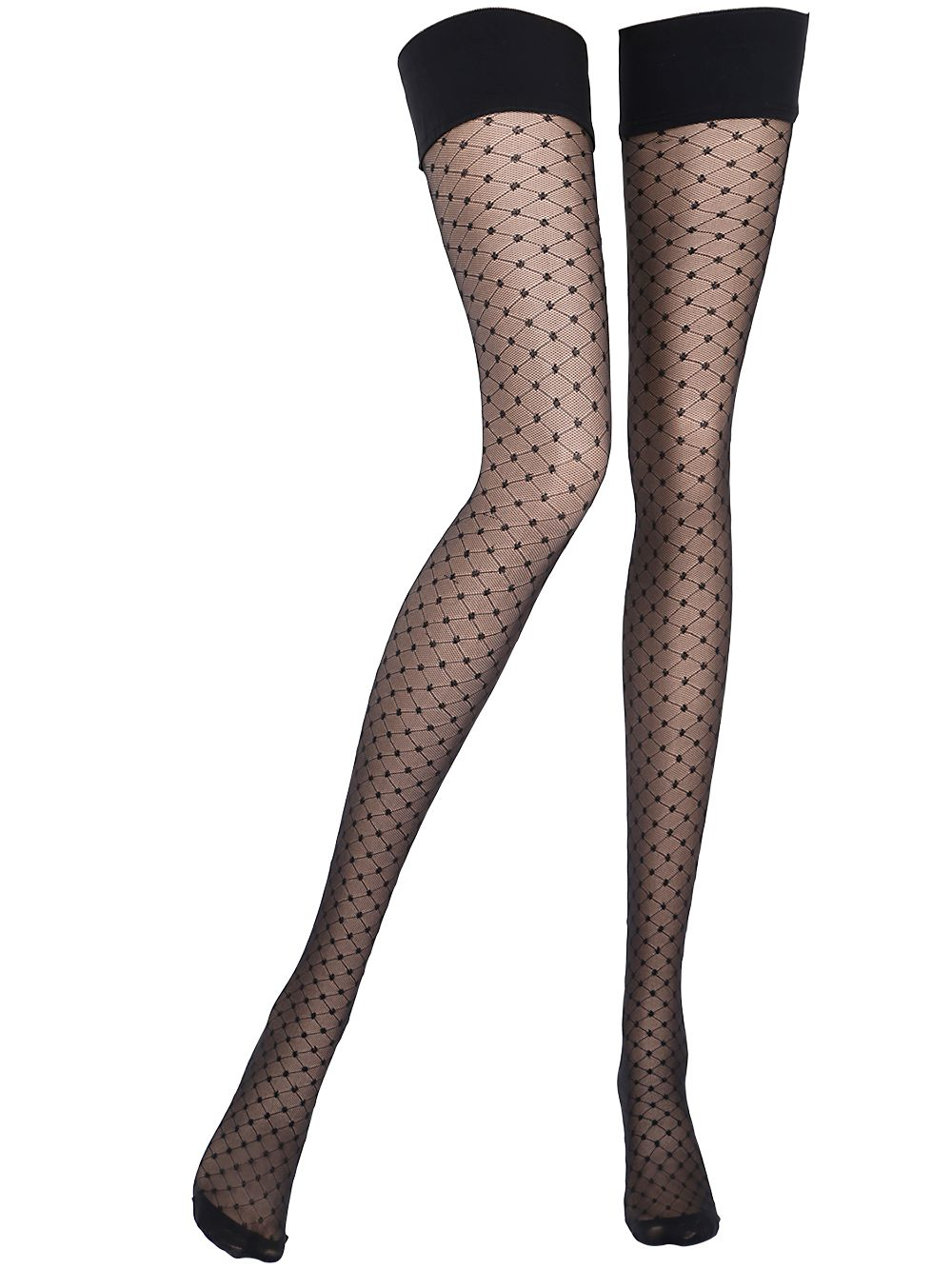 a9b13003b Chantal Thomass Bandana Polka Dot Thigh High Stockings in Black - Lyst