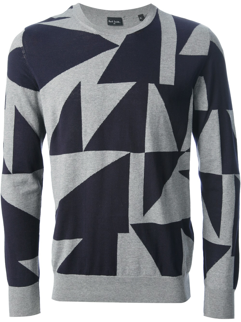 342bfc7d4c PS by Paul Smith Geometric Print Sweater in Gray for Men - Lyst