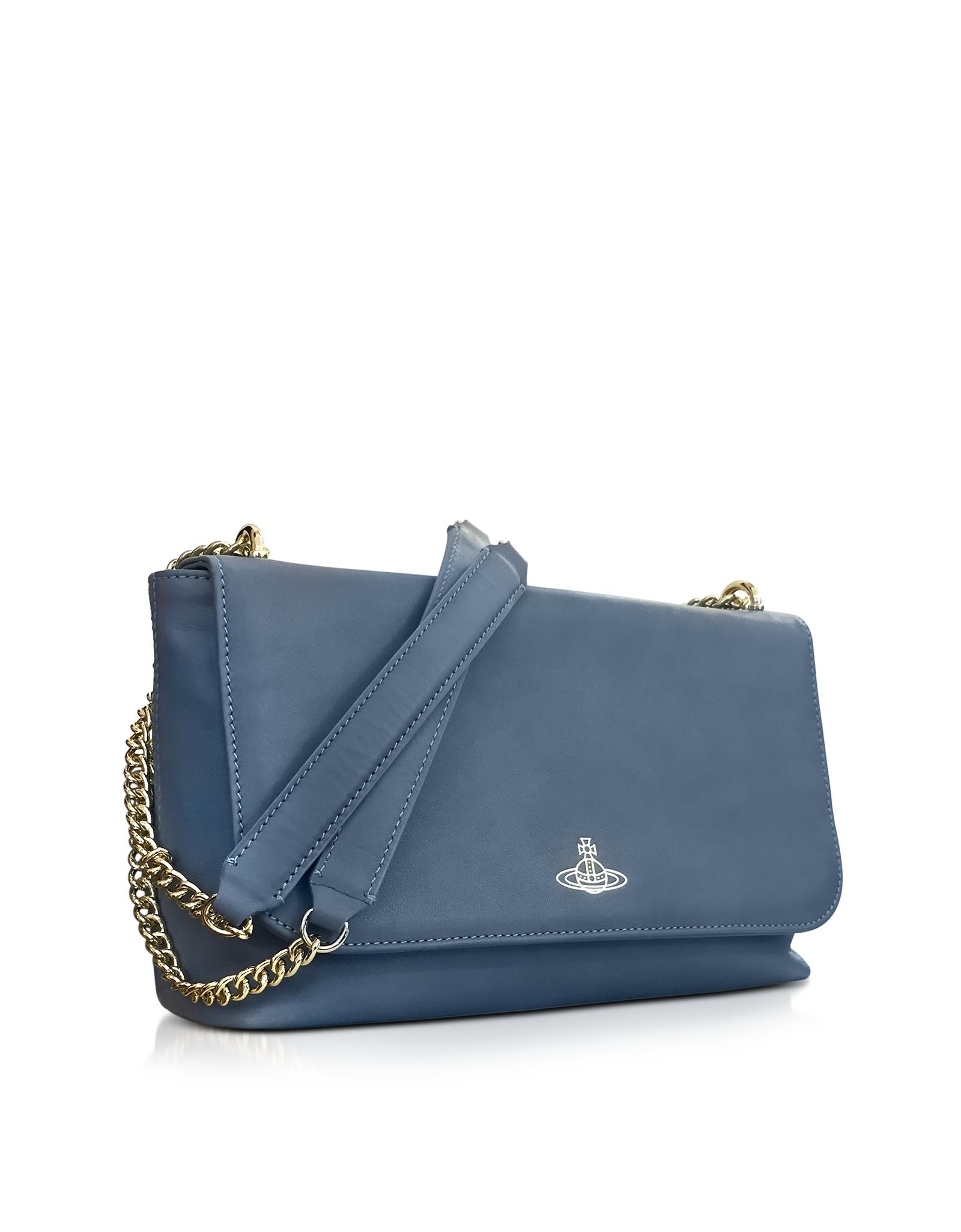 157d552ad8b2 Lyst - Vivienne Westwood Spencer Blue Leather Shoulder Bag in Blue