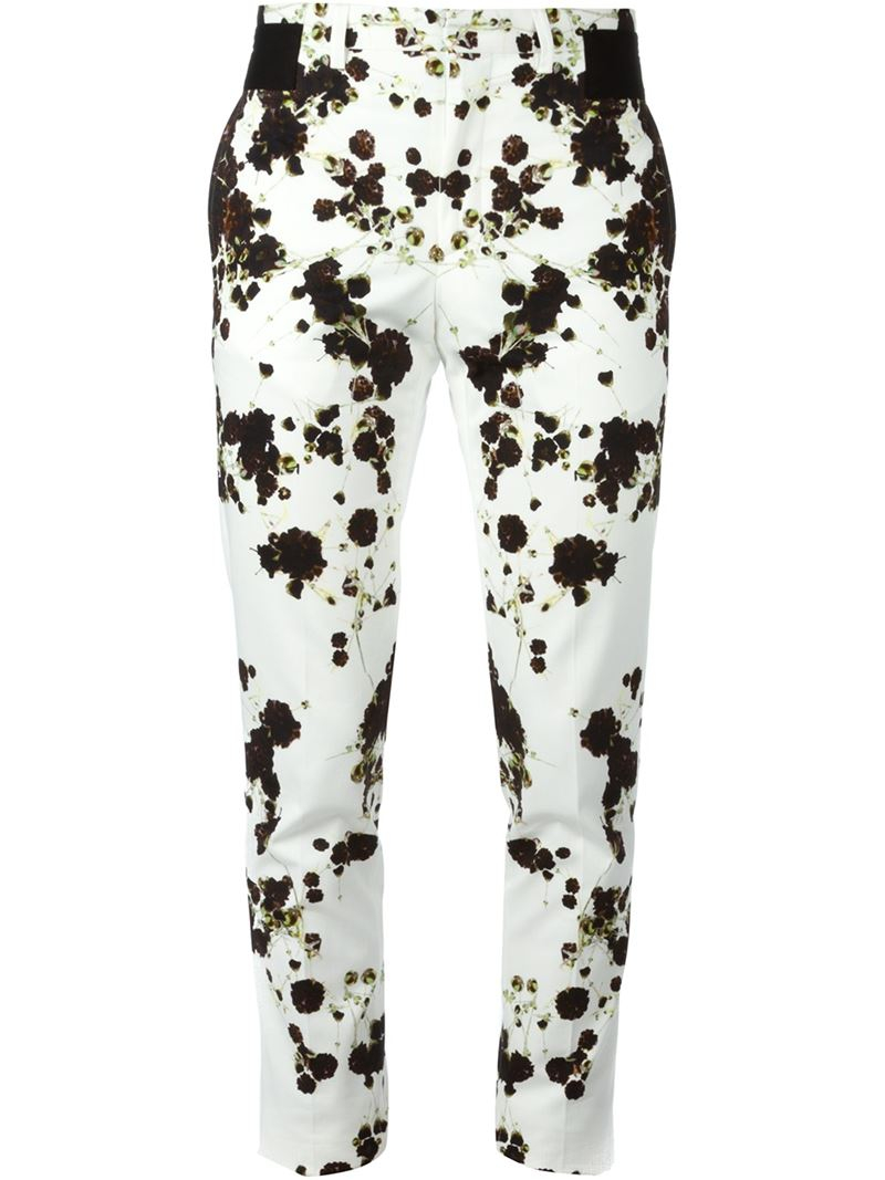 Givenchy Gypsophila Print Trousers in White for Men