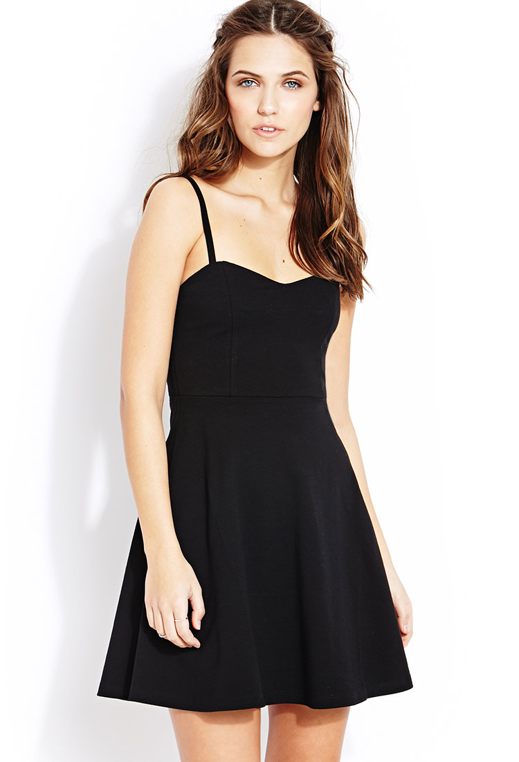 fd5a2d6aa71 Lyst - Forever 21 Sweet Thing Tube Dress in Black