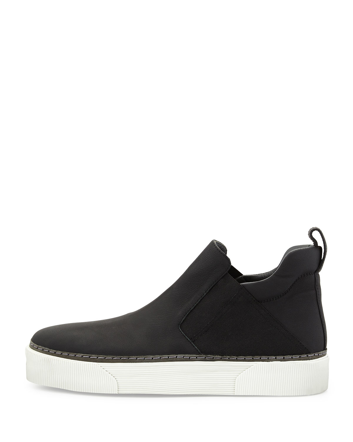 cb71c7eb01eb Lyst - Lanvin Leather High-top Slip-on Sneaker in Black for Men
