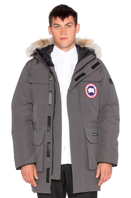 Canada Goose chilliwack parka online discounts - Canada goose Citadel Coyote Fur Trim Parka in Gray for Men ...