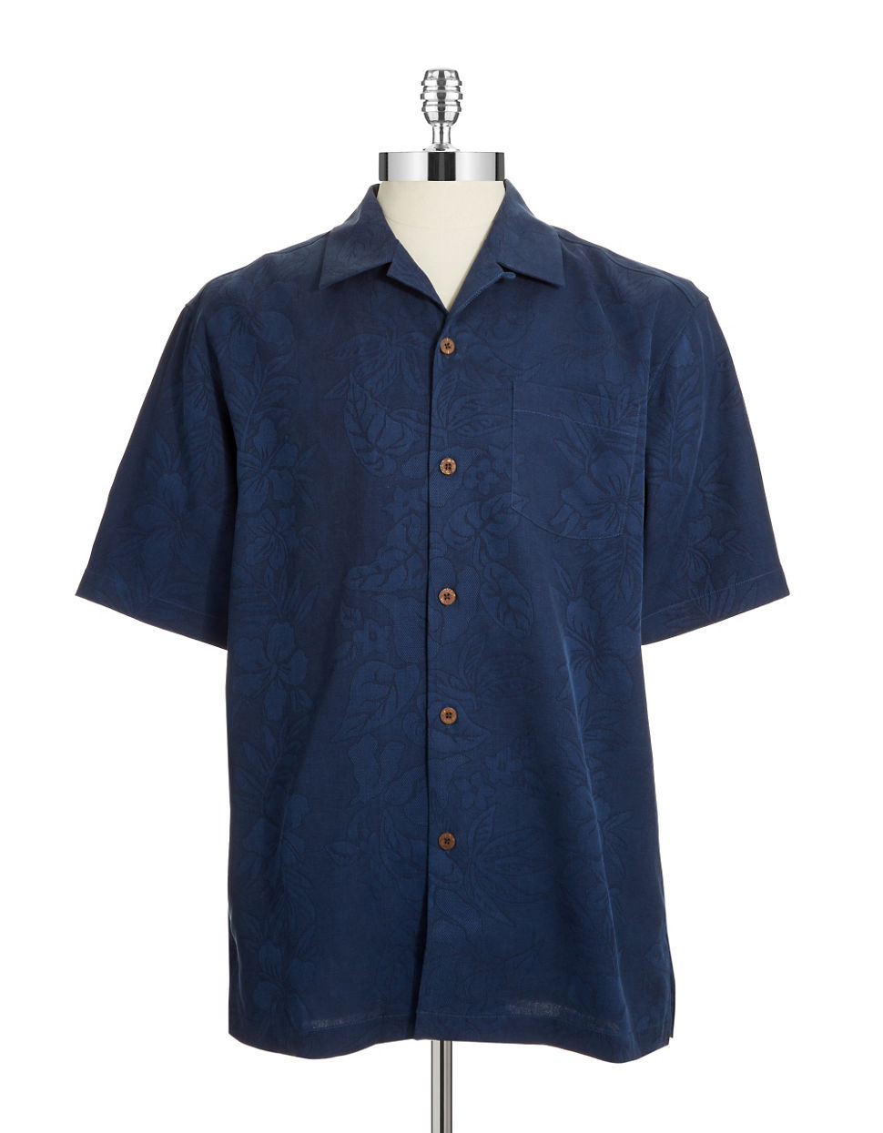 Tommy bahama tropical print sportshirt in blue for men for Tommy bahama florida shirt