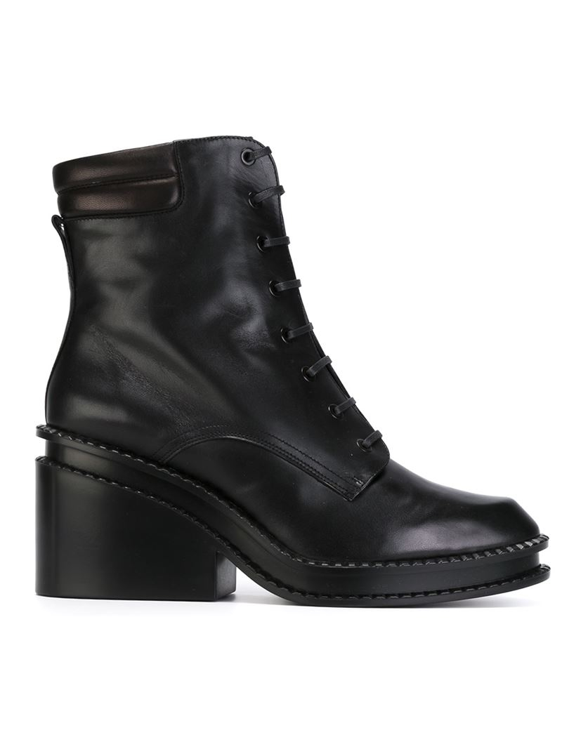 Robert Clergerie Chunky Heel Boots in Black