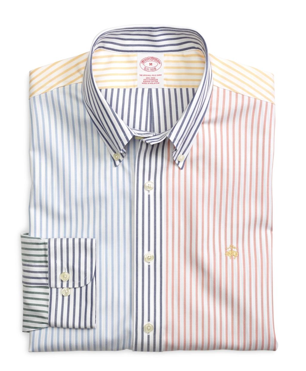 Brooks brothers non iron slim fit multi stripe sport shirt for Brooks brothers non iron shirts review