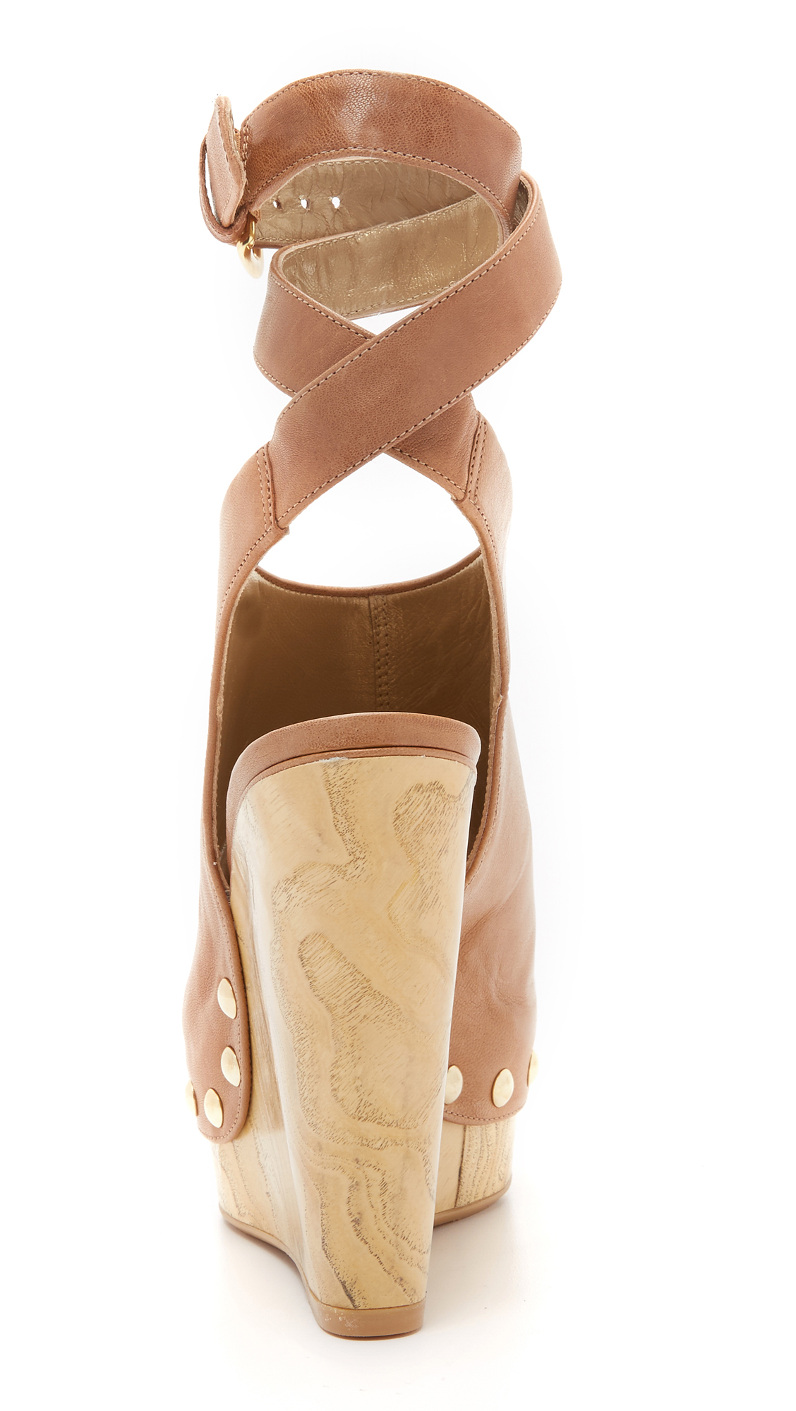 2829361a4c90 Lyst - Stuart Weitzman Wrap Up Platform Sandals in Natural