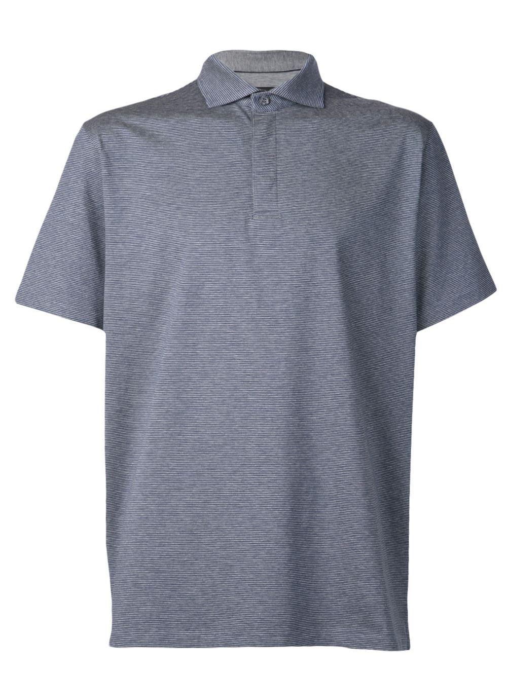 ermenegildo zegna classic polo shirt in gray for men grey lyst. Black Bedroom Furniture Sets. Home Design Ideas