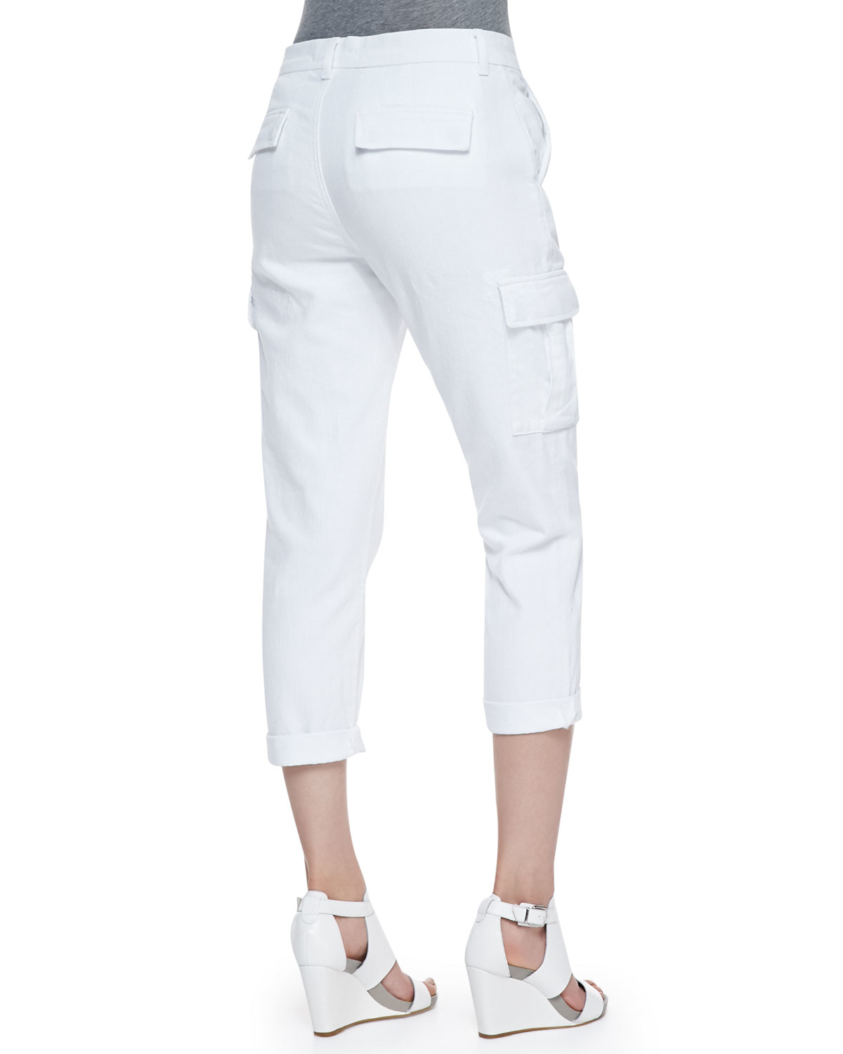Perfect All White Cargo Pants - Pi Pants