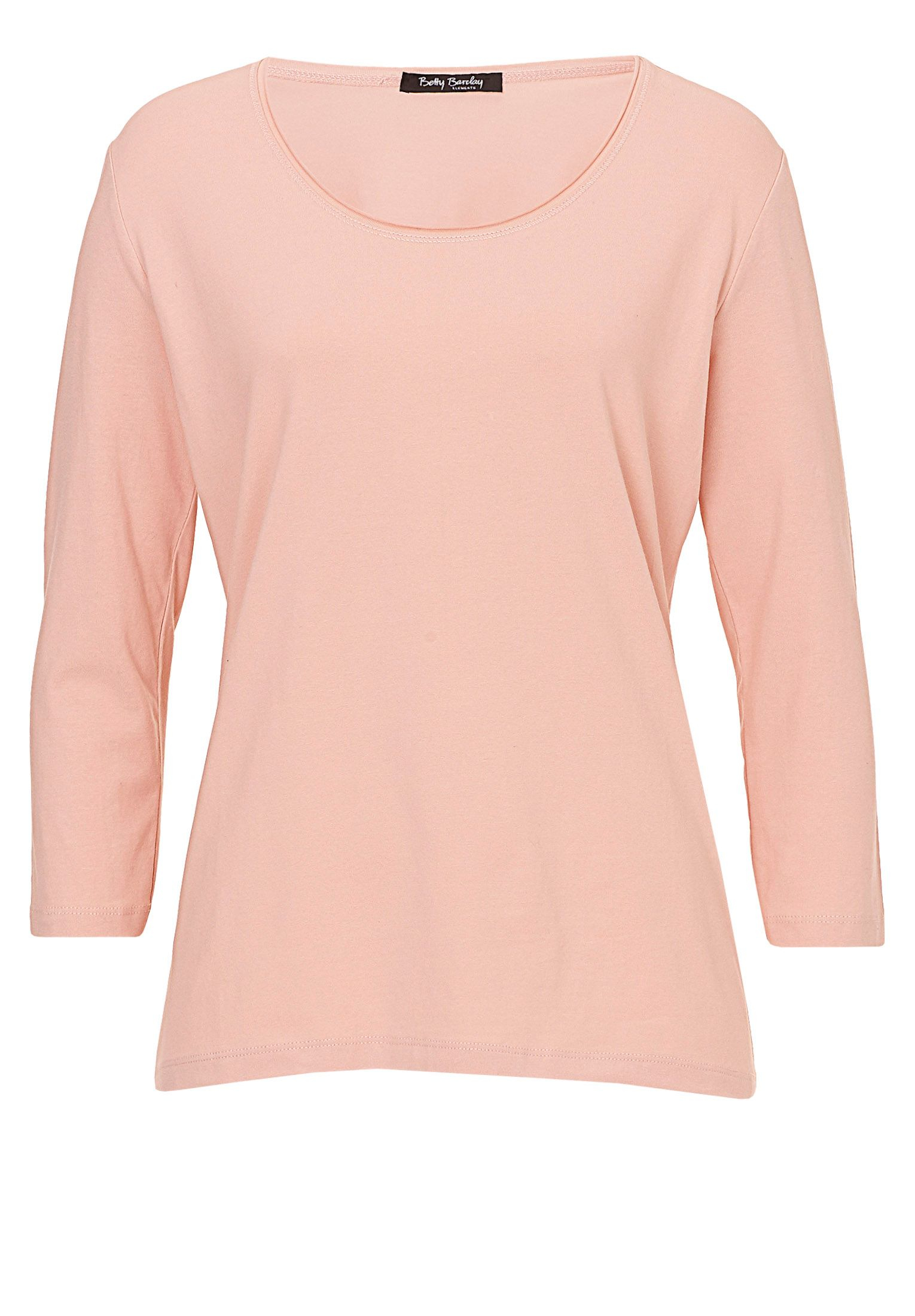 betty co three quarter sleeve t shirt in pink lyst