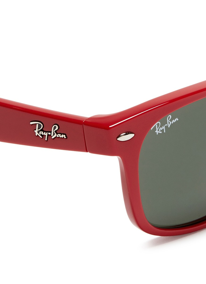 Ray Ban New Wayfarer Acetate Sunglasses In Red Lyst