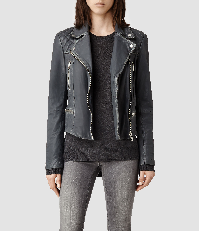 Leather jacket all saints - All Saints Cargo Biker Leather Jacket Cairoamani Com