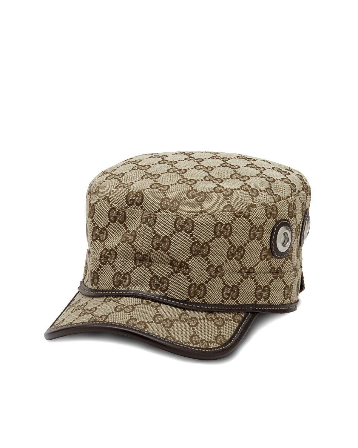 Lyst - Gucci Canvas Military Hat in Natural ff7cf20dc5ac