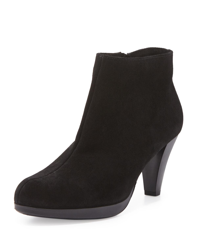 la canadienne megan suede boots in black lyst