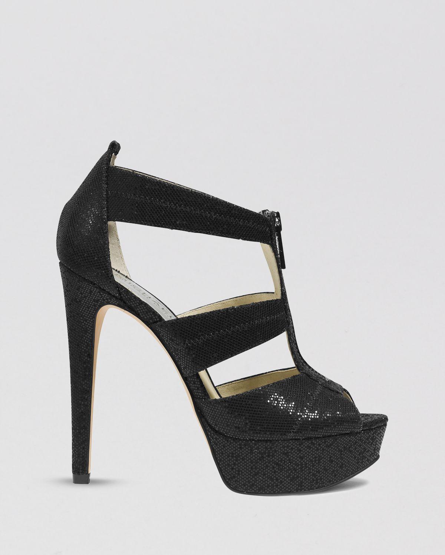 Lyst Michael Michael Kors Open Toe Platform Evening Sandals Berkley High Heel In