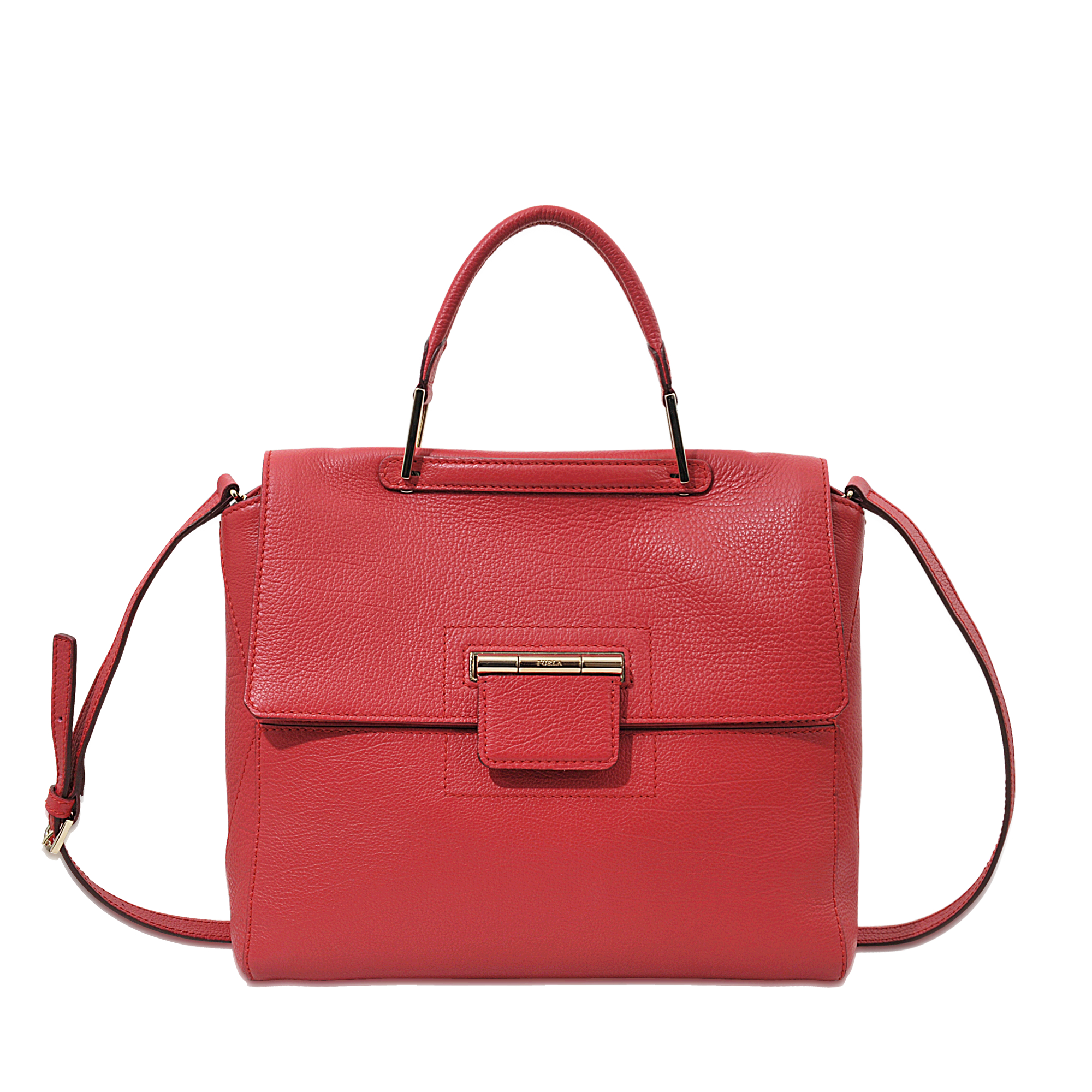 Furla Artesia M Top Handle Bag in Red
