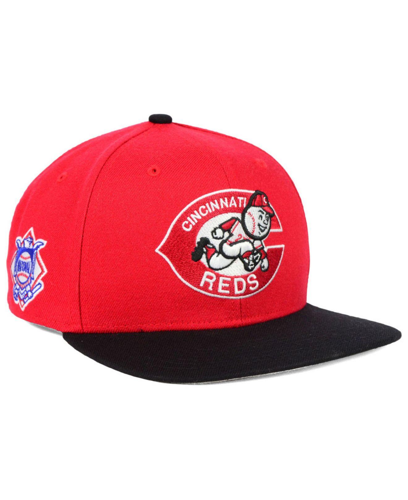 the latest 05cf4 8f68f 47 Brand Cincinnati Reds Sure Shot Snapback Cap in Red for Men - Lyst