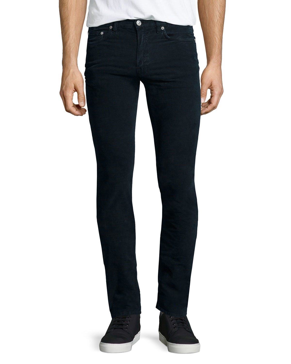 Acne Ace Cord Skinny Denim Jeans in Blue for Men | Lyst