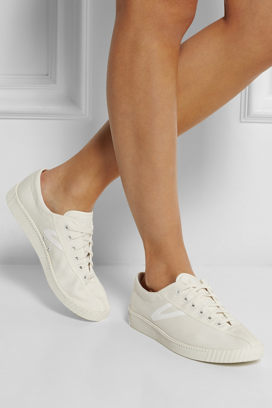 18ad365c1 Tretorn Nylite Canvas Tennis Sneakers in White - Lyst