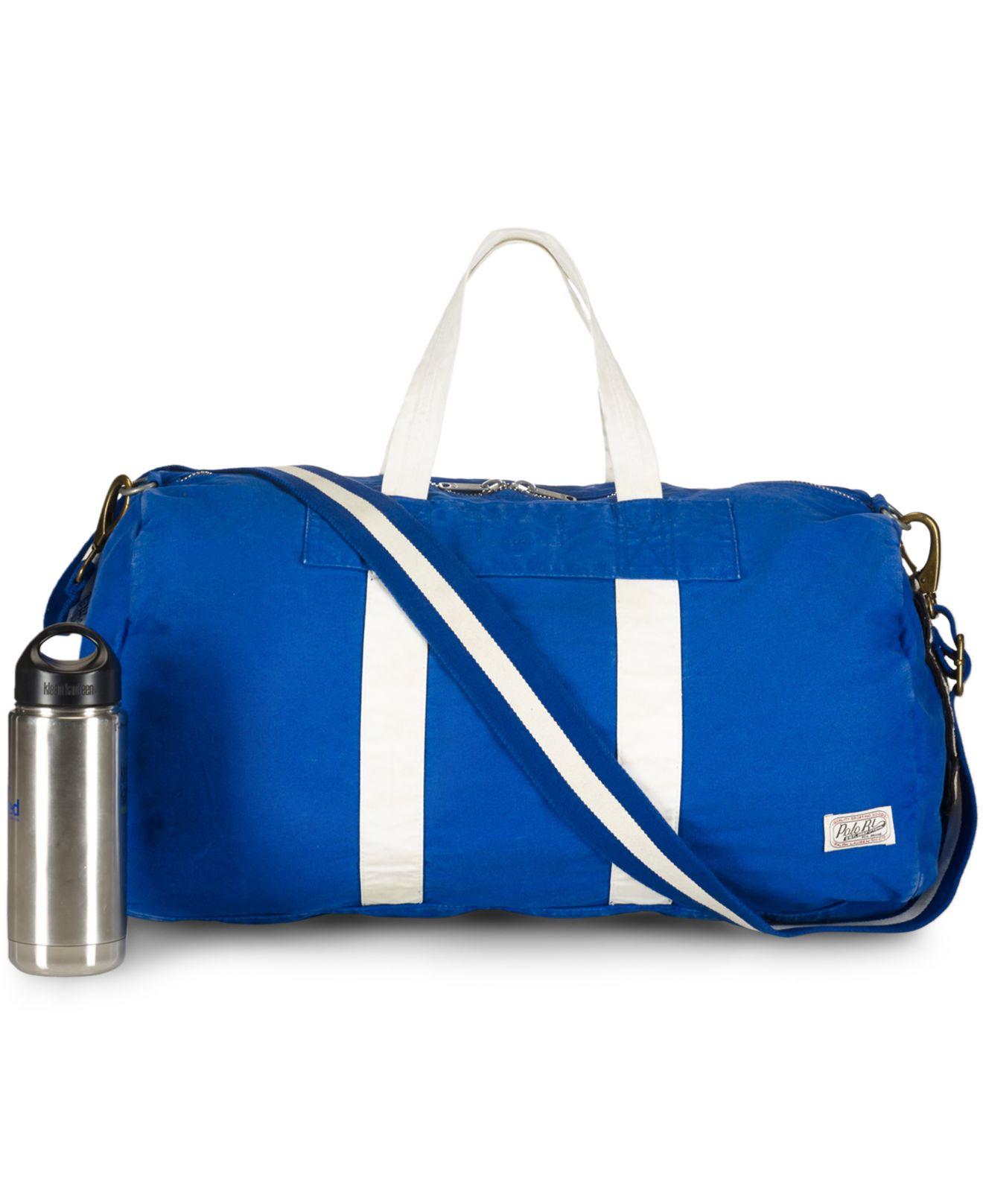4bc4f82654 ... canada lyst polo ralph lauren canvas football duffel bag in blue for  men ef523 44ca2